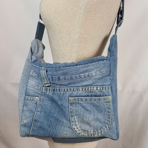Clea Ray recycled denim xbody purse, nwot